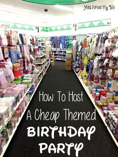 Have a small budget but want a big bash? Check our tips for How To Host A Cheap Themed Birthday Party!