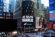 Façade du NASDAQ, sur Times Square (New York).