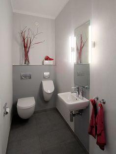 Gäste wc fliesen ideen -  - #badezimmerideen Modern Powder Rooms, Guest Toilet, Bathroom Toilets, Modern Bathroom, Sweet Home, Tile Ideas, Design, Home Decor, Trough Sink