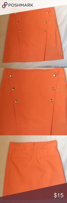 Zara tangerine orange small skirt NWT Zara tangerine orange small skirt NWT Zara Skirts