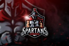 , Spartans Squad - Mascot & Esport Logo- Suitable for your personal or squad logo, All elements on this template are editable with adobe illustrator! Editable Text, Before you Coreldraw, Adobe Illustrator, Cores Rgb, Squad, Logo Youtube, Spartan Logo, Envato Elements, Esports Logo, Game Logo
