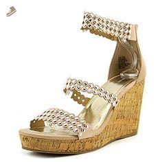 Nine West Fancy0ner7 Women US 11 Nude Wedge Sandal - Nine west pumps for women (*Amazon Partner-Link)