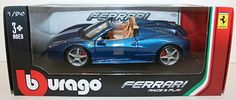 #Burago 1/24 scale #18-26017 - ferrari 458 #spider - blue,  View more on the LINK: http://www.zeppy.io/product/gb/2/401208985684/