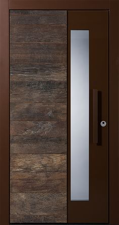 Pieno front door Grenoble with old wood. The exclusive Pieno entrance doors are now also available from Fenster-Schmidinger in Gramastetten in Upper Austria. Information on our website www. Flush Door Design, Main Door Design, Wooden Door Design, Front Door Design, Wooden Doors, Bedroom Door Design, Door Design Interior, Balcony Railing Design, Flush Doors