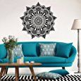 """Amazon.com: Lotus Mandala Pattern Wall Stickers,Ikevan 22.4"""" x 22.4"""" Black Wall Stickers Environmental Protection PVC Sticker Wall Decals Sticker Home Office Wall Decor Gifts: Musical Instruments"""