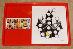Halloween Montessori activities: One-to-one correspondence practice using stickers and do-a-dot pages || Gift of Curiosity