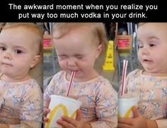 This will probably be me this weekend  Haven't had a sip of alcohol in almost 4months so I'm sure even a weak drink will make me pucker like this ha ha! #CheatDayIsAComin