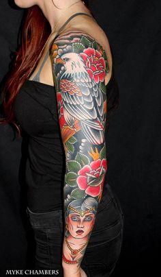 Sleeve tattoo. Classic American Flash Art