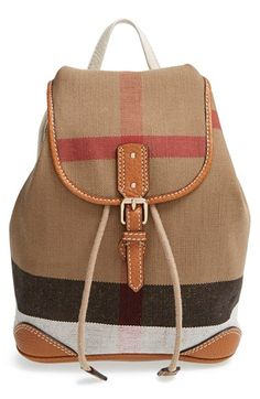 Burberry 'A1 Mini' Backpack (Toddler Girls) available at #Nordstrom