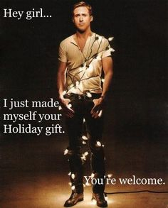 There Be Light! 20 Festive Holiday Light Ideas Ryan Gosling Wrapped in Christmas Lights: I'll just leave this here.Ryan Gosling Wrapped in Christmas Lights: I'll just leave this here. Ryan Gosling, Dead Man's Bones, Look At You, How To Look Better, Supergirl, Dear Photograph, All I Want For Christmas, Merry Christmas, Dia Del Amigo