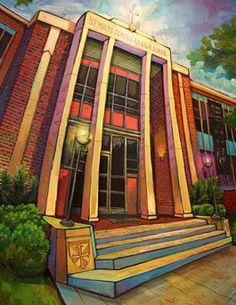 Dominican High School | original art by Terrance Osborne to help mark 150 years