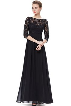 this stunning evening dress features a figure flattering ruched satin waist and a 3/4 sleeve lace bust. the formal floor length of the dress coupled with the classic white color makes this dress perfect for any affair; it has also been very popular with m