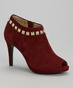 Look what I found on #zulily! Wine Evangeline Suede Pump by Bandolino #zulilyfinds