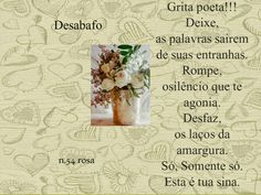 Meus Poemas  Minhas Reflexões (R.R.): N.47  Poema Desabafo (n.54) (grita poeta....)