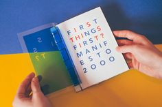 First Thing's First Manifesto Zine on Behance Photography Zine, Mises En Page Design Graphique, Buch Design, Publication Design, Communication Design, Book Layout, Book Projects, Portfolio Design, Printed Portfolio