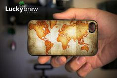 Vintage Map of the World iPhone Cover