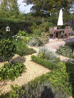 FAVORITE BACKYARD IDEAS | www.judithsharpegardens.co.uk | GARDEN ROOMS | n.b. - Build your patio amongst the potager garden beds