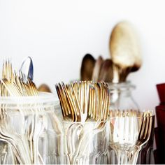 golden flatware