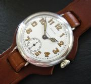 STUNNING RARE SILVER MAPPIN & WEBB LONGINES CAMPAIGN WATCH