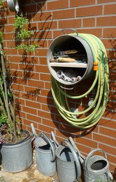 22 best garden hose holder images garden hose storage garden hose rh pinterest com