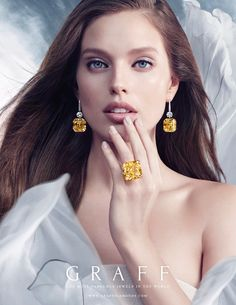 The Ultimate Element – Air Magnificent yellow diamonds – a speciality of the House of Graff, are perfectly complemented by an ethereal backdrop portraying the elegance and lightness of Air, in Graff Diamonds stunning new Ad Campaign. #GraffDiamonds #Air