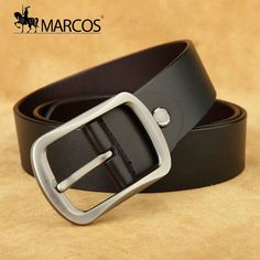 ade891ef9cd Hot pin buckle belt male Retro Leisure leather Cowhide belt 37mm Contracted leather  belts youth fashion trend