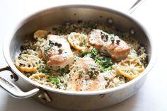 Chicken Piccata & Rice  - Delish.com