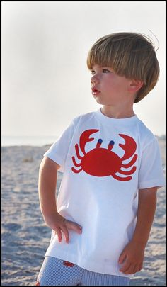 Boys Crab T shirt Boutique Custom Maddie Kate now in by maddiekate