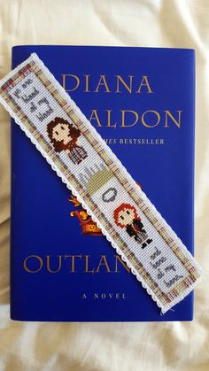 Outlander Cross Stitch Bookmark Pattern, Modern Diana Gabaldon Cross Stitch…