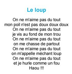 comploup                                                                                                                                                      Plus French Poems, 1. Mai, Second Language, Teaching French, Learn French, My Job, Wolf, Preschool, Album