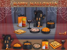 The Sims Resource: Happy Halloween set by Soloriya • Sims 4 Downloads