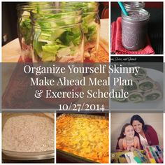 Make Ahead Menu Plan and Exercise Schedule {October Healthy Freezer Meals, Make Ahead Meals, Healthy Meal Prep, Healthy Dinners, Healthy Cooking, Healthy Food, Healthy Eating, Eating Clean, Clean Eating Recipes
