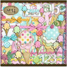 Ice Cream Party mini kit freebie from Shabby Miss Jenn Designs
