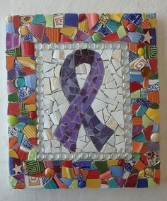 Mosaic Awareness Plaque WIP Ungrouted