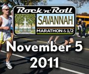Savannah Rock 'n' Roll Marathon & 1/2 Marathon on November 5, 2011