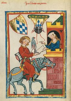 Codex Manesse, UB Heidelberg, Cod. Pal. germ. 848, fol. 164v: Leuthold von Seven