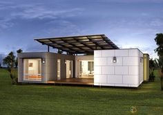 The Madrid: $128,900. A simple but very practical 3 bedroom prefabricated container home design perfectly suited to small families who love outdoor living.