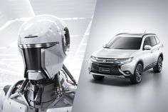 Mitsubishi Outlander - Astronaut The brand new campaign by Africa Agency for Mitsubishi highlights the technology in the new Outlander. The big challenge for our team was to design characters using the same car design features. For this, Lightfarm team created a futuristic Astronaut and a Robot using the latest modeling techniques, cloth simulation and rendering.