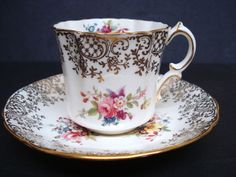 Antique Cup and Saucer Set by Hammersley English by lasadana