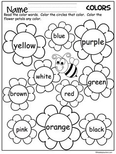 Kindergarten Spring Color Worksheets To Learn 001 – Did you . Kindergarten Math Coloring Sheets addition and subtraction coloring . Fun Spring color-by-number activities for practicing basic addition and subtraction facts. Preschool Learning, Kindergarten Worksheets, Preschool Activities, Preschool Activity Sheets, Color Worksheets For Preschool, Teacher Worksheets, Language Activities, Teacher Resources, Preschool Colors