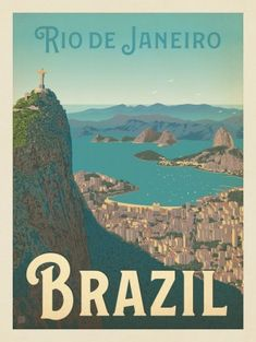 Anderson Design Group – World Travel – Brazil: Rio de Janeiro Harbor View - . - Anderson Design Group – World Travel – Brazil: Rio de Janeiro Harbor View – # Check more at - Brazil Tourism, Brazil Travel, Mexico Travel, Travel Sticker, Travel Wall, City Poster, Posters Canada, Poster Retro, Harbor View