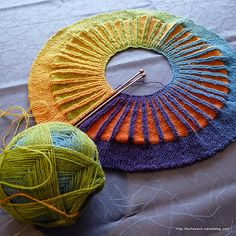 Spectra by Stephen West. I have this pattern and this yarn...