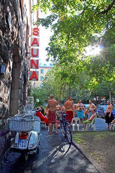 The famous Finnish sauna in Helsinki!