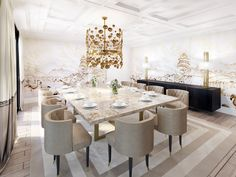 Amazing dining room in  beige color tones  #interiordesign