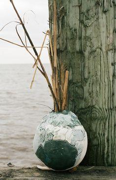 Sandy by Jessica Hans #sculpture #shore #storm #vase