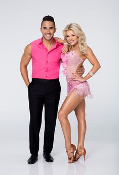 "Dancing With the Stars  -  Witney Carson & Carlos PenaVega  -  danced a jive routine to James Brown's ""I Got You, I Feel Good""  -  scoring 8+8+7 = 23  -  Season 21  -  week-1  -  Sept. 14, 2015"