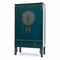 Teal Lacquer Wedding cabinet