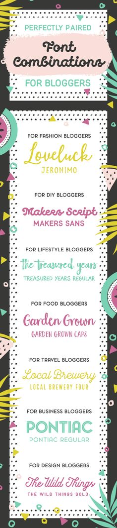 On the Creative Market Blog - Perfectly Paired Font Combinations for Bloggers