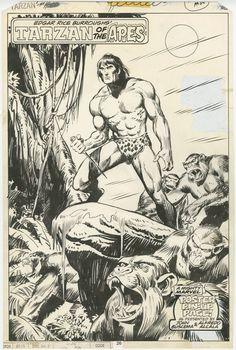 Tarzan of the Apes #12 - original pin-up art page 26 (Marvel, 1978) John Buscema and Alfredo Alcala