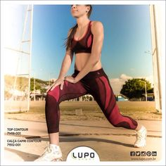 Treinar é melhor com Top e Calça Capri Contour Lupo Sport!